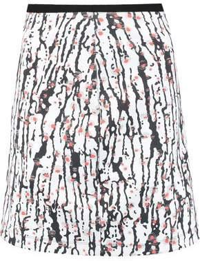 Carven Printed Neoprene Mini Skirt