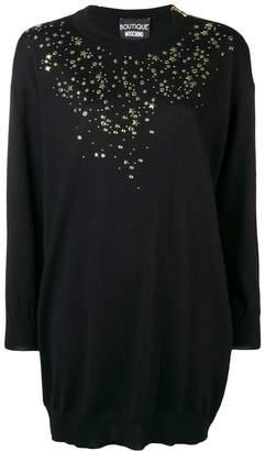 Moschino star studded sweater dress