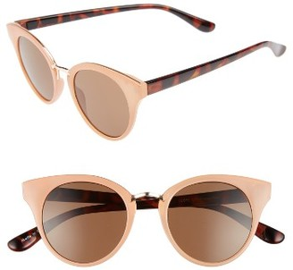 Women's Bp. 48Mm Round Cat Eye Sunglasses - Peach/ Tort $12 thestylecure.com