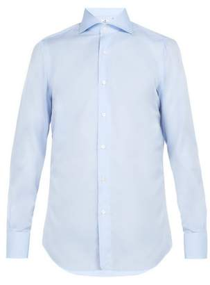 Finamore 1925 - Double Cuff Cotton Shirt - Mens - Light Blue