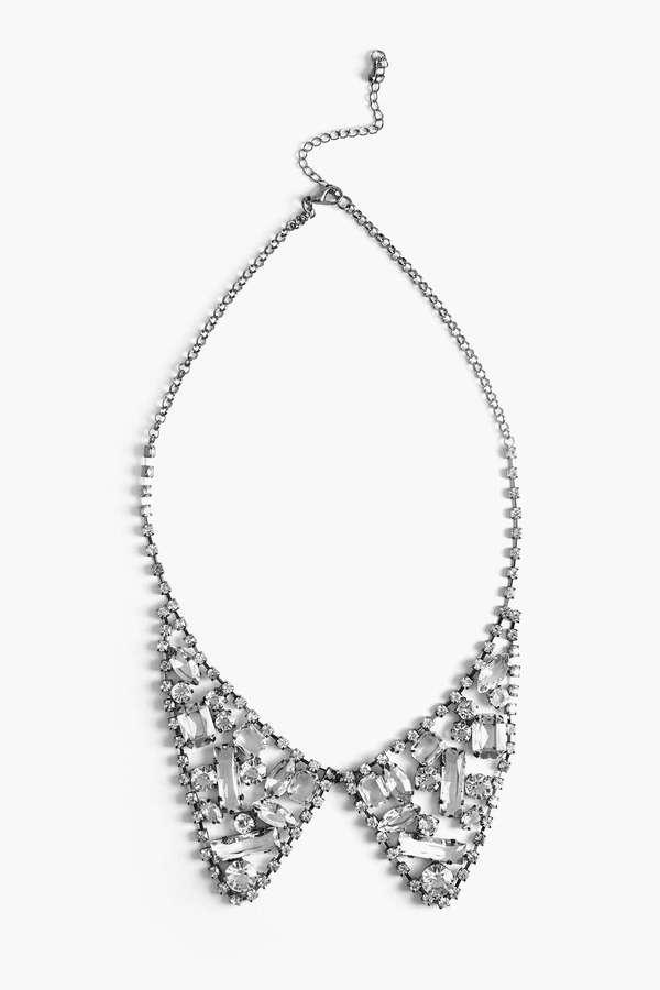 Nasty Gal Crystal Collar Necklace