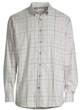 Bugatti Check Print Button-Down Shirt