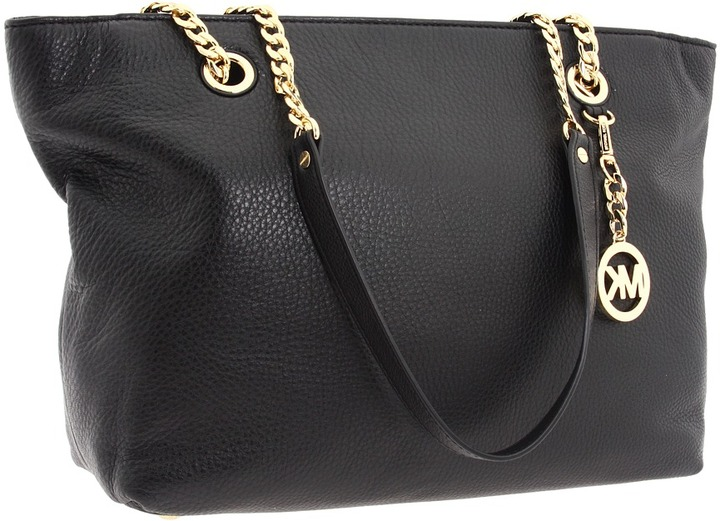 MICHAEL Michael Kors - Jet Set Chain Large Chain East/West Tote (Black) - Bags and Luggage