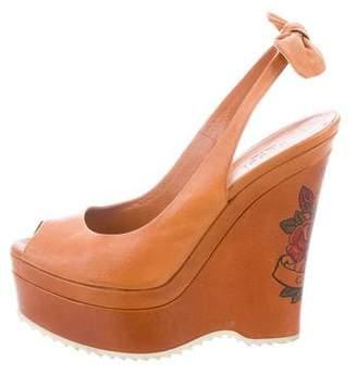 Gucci Peep-Toe Platform Wedges