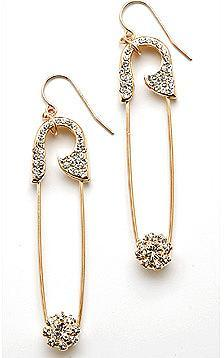 CC Skye Safety Pin Earrings