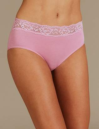 0f65141f01 ... Marks and Spencer 5 Pack Lace High Waisted Midi Knickers