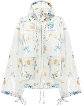 Ganni Petunia floral-printed raincoat