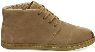 Toms Toffee Suede Faux Shearling Mens Botas