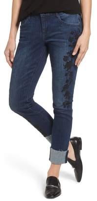 Wit & Wisdom Flexellent Embroidered Boyfriend Jeans