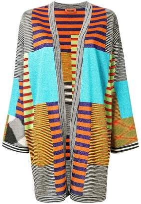 Missoni patchwork open front cardigan