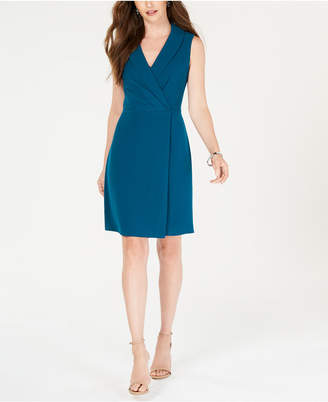 Adrianna Papell V-Neck Blazer A-Line Dress