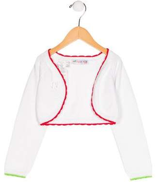 Agatha Ruiz De La Prada Girls' Open Front Long Sleeve Shrug w/ Tags