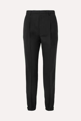 Prada Wool And Mohair-blend Straight-leg Pants - Black