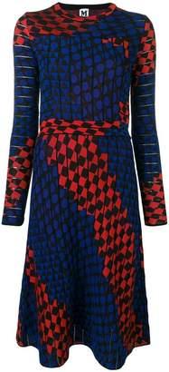 M Missoni jacquard knit geometric dress