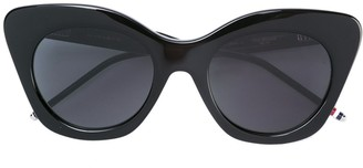 Thom Browne Eyewear Black Sunglasses With Dark Grey Lens
