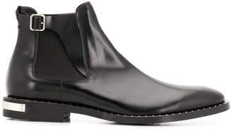 Philipp Plein buckled Chelsea boots