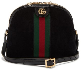 Gucci Ophidia Gg Suede Cross Body Bag - Womens - Black Multi