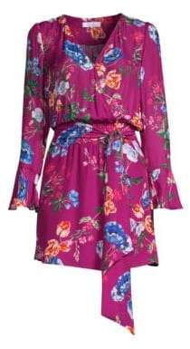 Parker Amanda Bell Sleeve Floral Wrap Dress