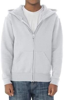JERZEES Boys' Mid-Weight Fleece Full-Zip Hooded Sweatshirt