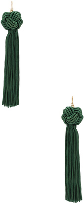 Vanessa Mooney Astrid Knotted Tassel Earring $45 thestylecure.com