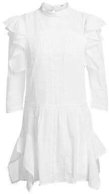 Etoile Isabel Marant Alba Long-Sleeve Ruffle Shift Dress