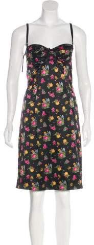 Dolce & Gabbana Floral Print Slip Dress
