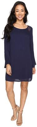 Brigitte Bailey Rowan Long Sleeve Dress with Lace Detail Women's Dress
