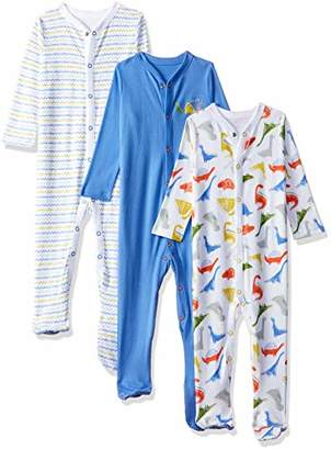 Mothercare Baby Boys 3 Pack Sleepsuits Dinosaur,(Manufacturer Size: 56)