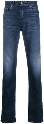 7 For All Mankind washed jeans
