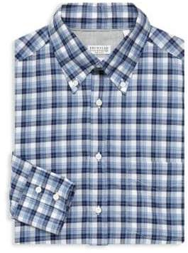 Brunello Cucinelli Plaid Dress Shirt