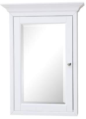 """KBC 24.25"""" x 33"""" Surface Mount Framed Medicine Cabinet with 4 Adjustable Shelves"""