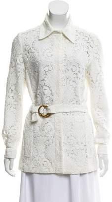 Chloé Belted Lace Jacket