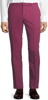 Etro Cuba Flat-Front Twill Pants