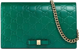 Gucci Signature mini bag $895 thestylecure.com