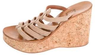 K Jacques St Tropez Cutout Wedge Sandals