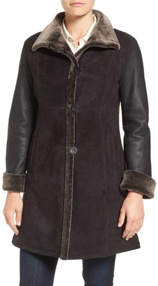 Blue Duck Fitted Genuine Shearling Coat $1,795 thestylecure.com