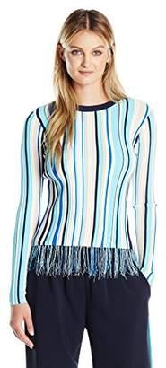 Milly Women's Vertical Stripe Pullover