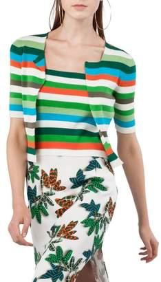 Akris Punto Stripe Knit Cardigan
