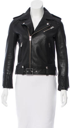 Iro Zerignola Leather Jacket $495 thestylecure.com