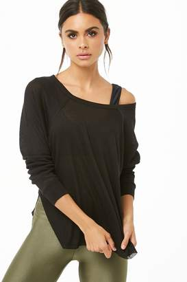 Forever 21 Active Raglan Scoop Neck Tee
