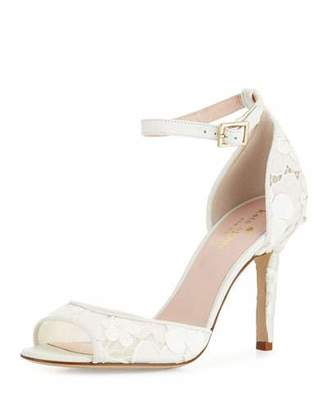 Kate Spade Ideline Lace Sandal, Off White
