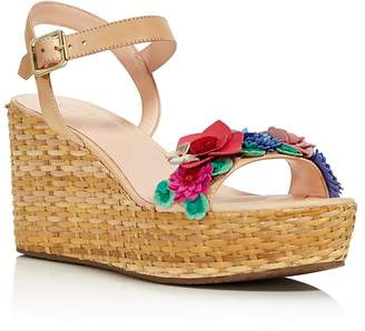 Kate Spade Women's Tinsley Leather & Floral Appliqué Platform Wedge Sandals - 100% Exclusive