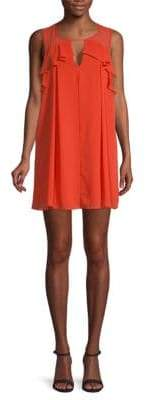 BCBGeneration Sleeveless Mixed Media Shift Dress