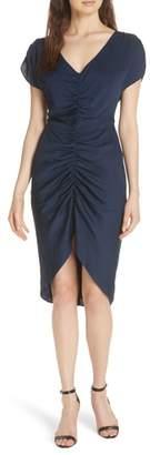 Milly Alexa Ruched Stretch Silk Dress