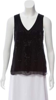 Magaschoni Sleeveless Embellished Top