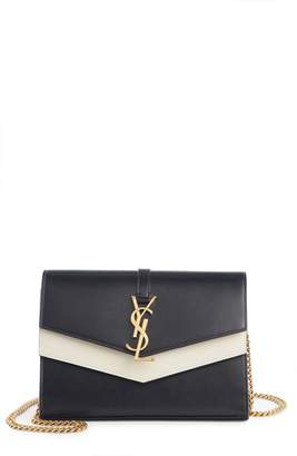 Saint Laurent Sulpice Colorblock Leather Shoulder Wallet