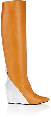Paco Rabanne WOMEN'S COLORBLOCKED LEATHER WEDGE KNEE BOOTS