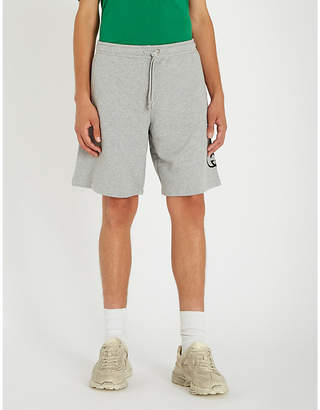 Gucci Logo-print relaxed-fit cotton-jersey shorts
