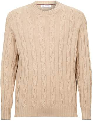 Brunello Cucinelli Cashmere Cable Knit Sweater
