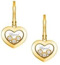 Chopard (ショパール) - Chopard Happy Diamond 18K Yellow Gold Earrings